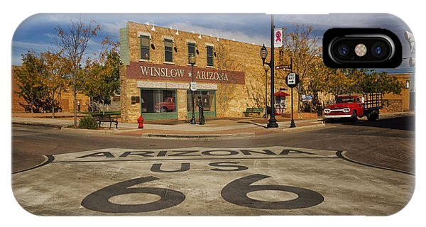 Standing On The Corner In Winslow Arizona Dsc08854 IPhone Case