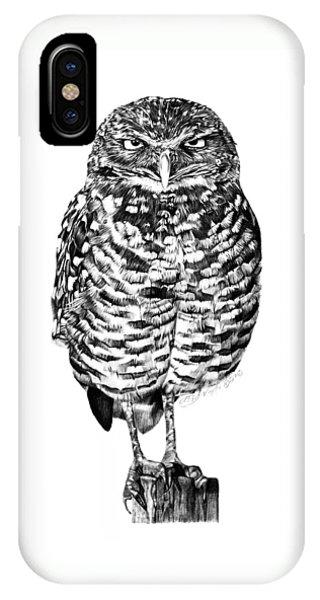 041 - Owl With Attitude IPhone Case