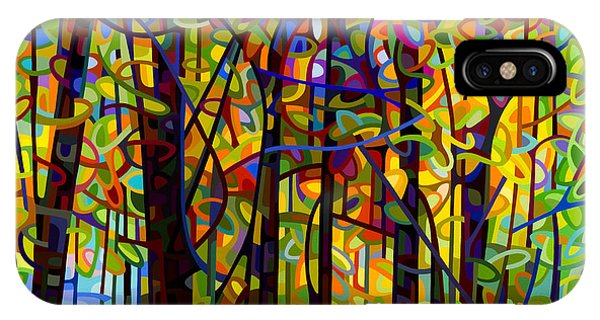 Abstract Landscape iPhone Case - Standing Room Only by Mandy Budan