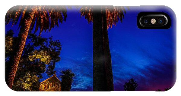 Stanford University Memorial Church At Sunset IPhone Case