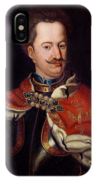 Moustache iPhone Case - Stanislaw I Leszczynski 1677-1766 Oil On Canvas by Polish School
