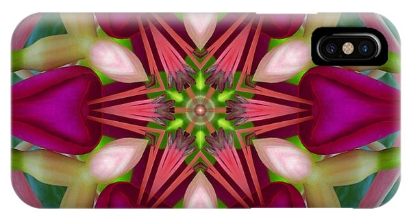 Star Fuchsia 2 Mandala IPhone Case