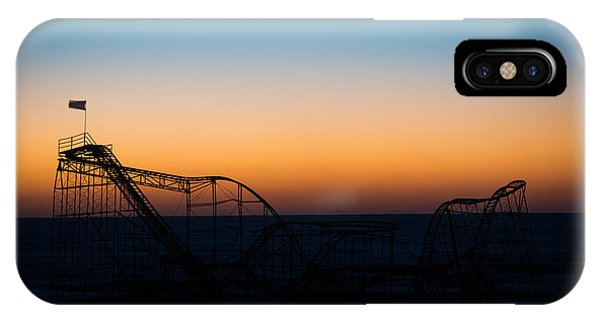 Nikon iPhone Case - Star Jet Roller Coaster Silhouette  by Michael Ver Sprill