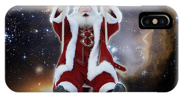 Santa's Star Swing IPhone Case