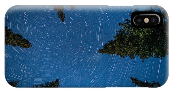 Swirling Stars Over The Spruces IPhone Case