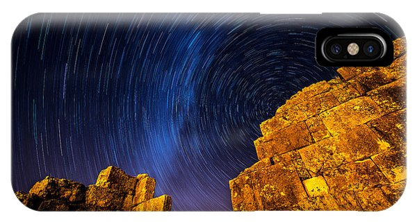 Star Trails At Aizanoi IPhone Case