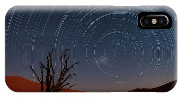 Africa iPhone X Case - Star Trails Of Namibia by Karen Deakin