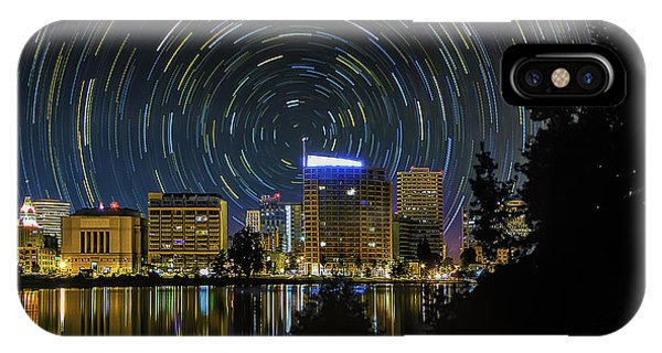 Star Trails Over Oakland IPhone Case