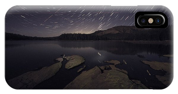 Star Trails Over Silver Lake Resort IPhone Case