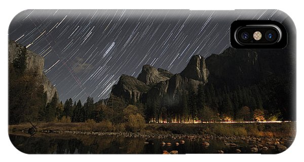 Star Trails Over Yosemite IPhone Case