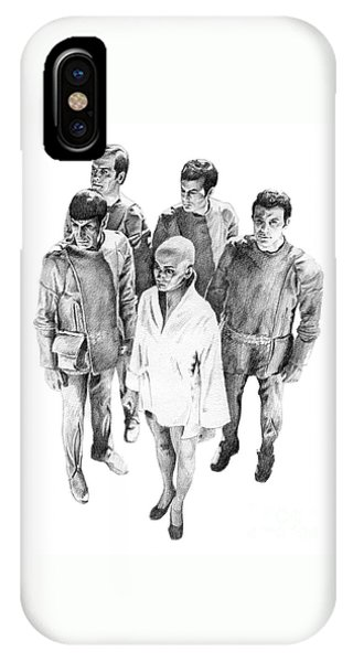 Star Trek - Meeting With V'ger IPhone Case