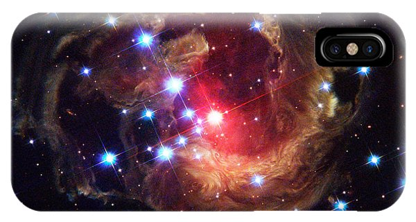 Luminous Body iPhone Case - Star V838 Monocerotis by Science Source