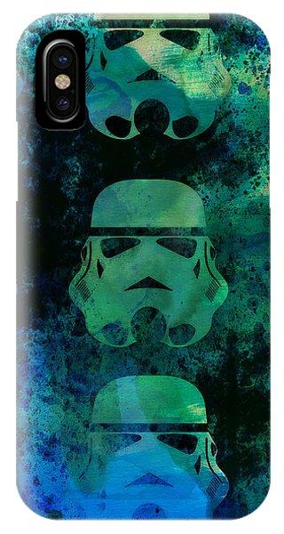 Nerd iPhone Case - Star Warriors Watercolor 1 by Naxart Studio