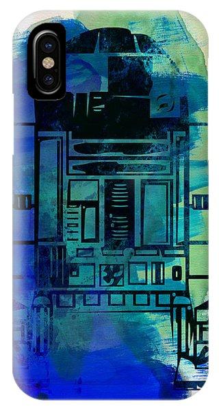 Nerd iPhone Case - Star Warriors Watercolor 4 by Naxart Studio