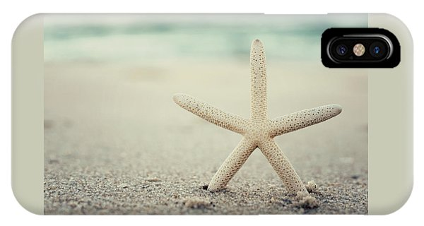 Starfish On Beach Vintage Seaside New Jersey  IPhone Case