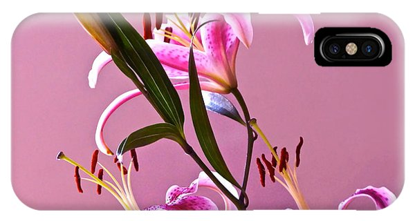 Stargazer Lilies Square Frame IPhone Case