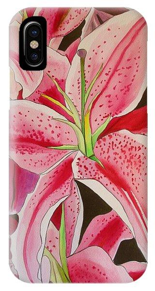 Stargazer Lily Phone Case by Sacha Grossel