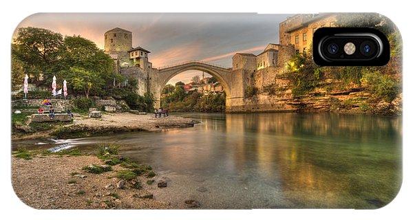 Mostar iPhone Case - Stari Most At Dusk  by Rob Hawkins