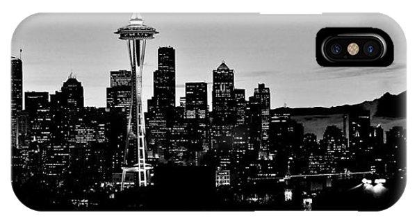 Stark Seattle Skyline IPhone Case