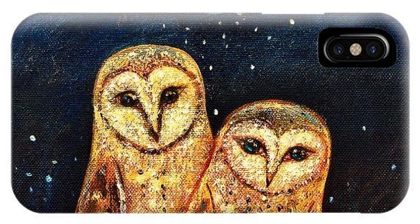 Starlight Owls IPhone Case