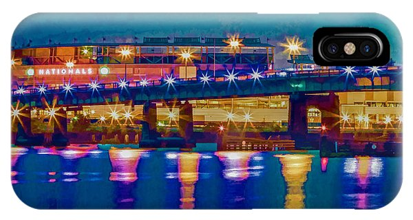 Starry Night At Nationals Park IPhone Case