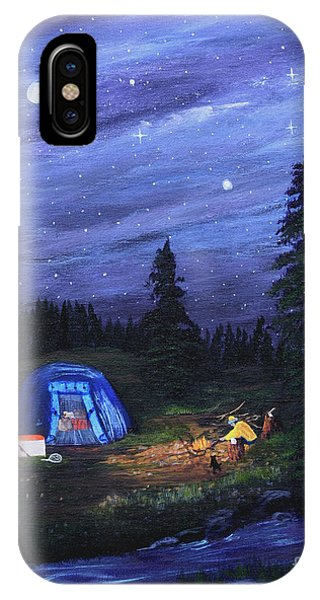 Starry Night Campers Delight IPhone Case