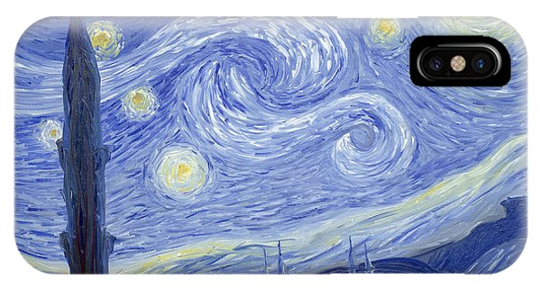 Starry Night In Istanbul IPhone Case