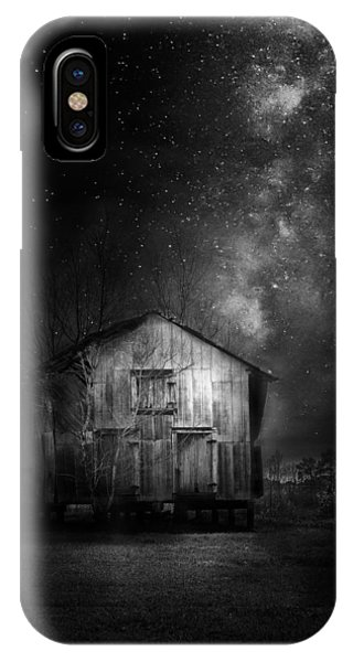 White Fence iPhone Case - Starry Night by Marvin Spates