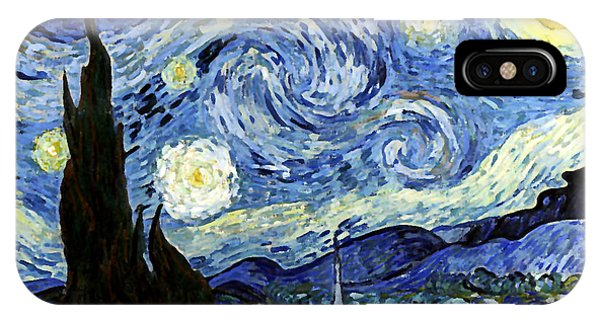 Starry Night Reproduction Art Work IPhone Case