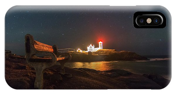 Starry Skies Over Nubble Lighthouse  IPhone Case