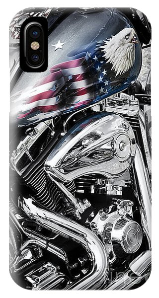 Harley iPhone Case - Stars And Stripes Harley  by Tim Gainey