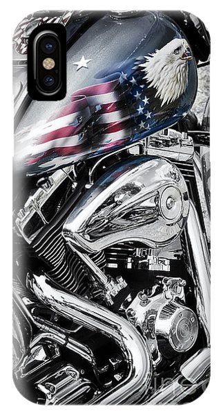 Eagle iPhone Case - Stars And Stripes Harley  by Tim Gainey