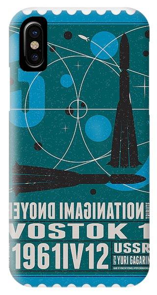 Nasa iPhone Case - Starschips 03-poststamp - Vostok by Chungkong Art