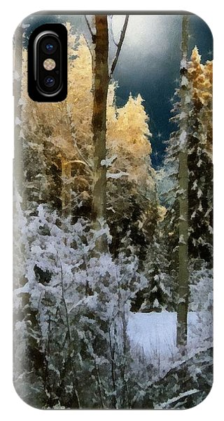 Starshine On A Snowy Wood IPhone Case