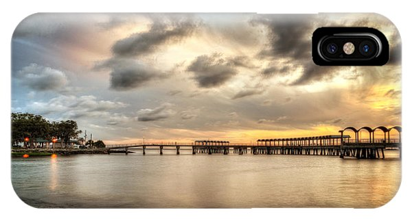 Starting A Night Of Fishing At Crab Creek Pier IPhone Case
