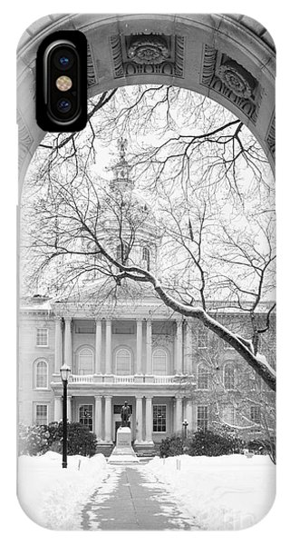 New Hampshire iPhone Case - State House Capitol Building Concord New Hampshire 2015 by Edward Fielding