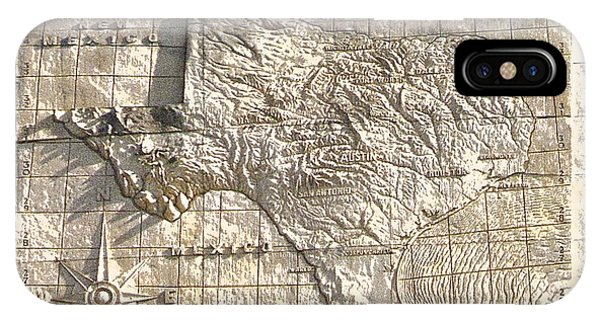 State Of Texas Map  IPhone Case