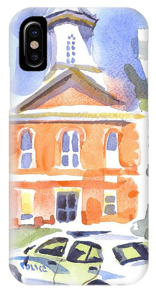 Courthouse iPhone Case - Stately Courthouse With Police Car by Kip DeVore