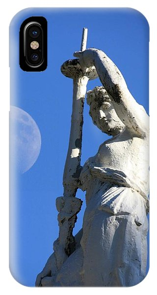 Statue And Moon IPhone Case
