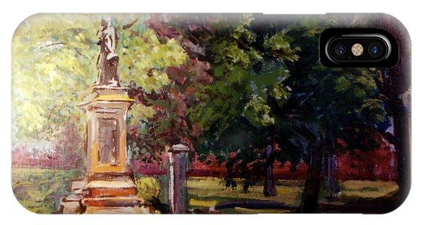 Statue In  Landscape IPhone Case