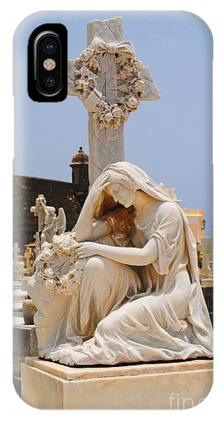 Statue Mourning Woman IPhone Case