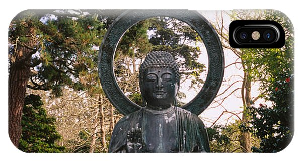 Statue Of Buddha In A Park, Japanese IPhone Case