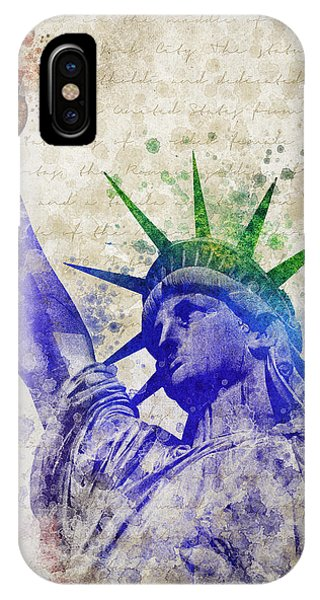 Statue Of Liberty iPhone Case - Statue Of Liberty by Aged Pixel