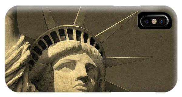 Battery D iPhone Case - Statue Of Liberty Closeup  by Dan Sproul