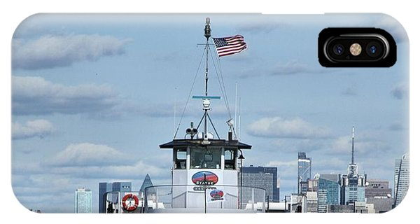 Battery D iPhone Case - Statue Of Liberty Ferry by Dan Sproul