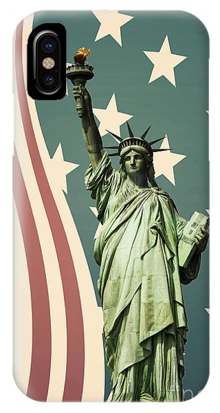 New York City iPhone Case - Statue Of Liberty by Juli Scalzi