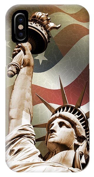 New York City iPhone Case - Statue Of Liberty by Mark Rogan