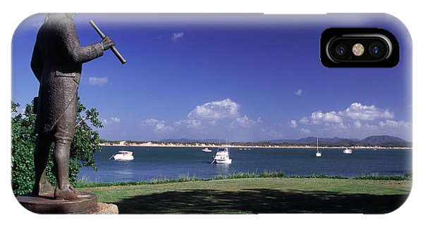 Far North Queensland iPhone Case - Statue On The Cooktown Foreshore by Paul Dymond