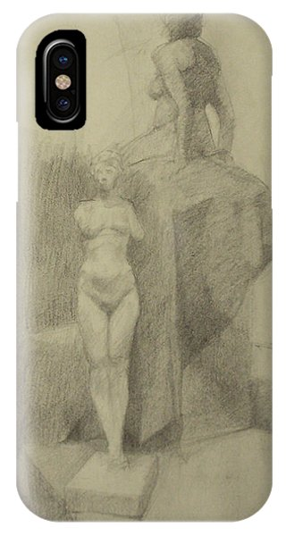 Statues Phone Case by Cynthia Harvey