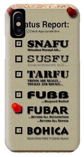 Status Report - Fubar IPhone Case